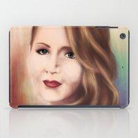 jennifer lawrence iPad Cases featuring Jennifer by Alanna791
