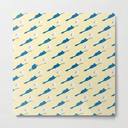 Where is the blue flamingo ? Metal Print