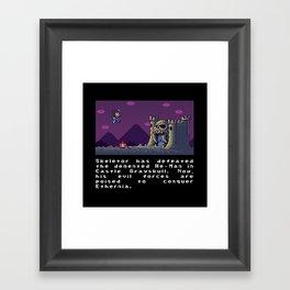 Super Skeletor World Framed Art Print