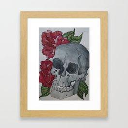 Death & Peony Framed Art Print