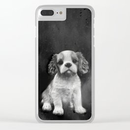 King Charles Spaniel puppy Clear iPhone Case