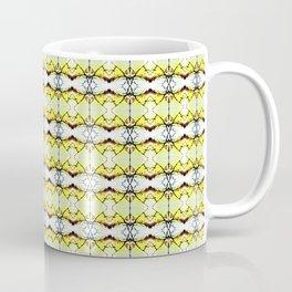 red Malus Radiant crab apple blossoms #7, yellow tint pattern Coffee Mug