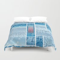 salt water Duvet Covers featuring Water Color and Salt Mosaic  by Marwood Designs