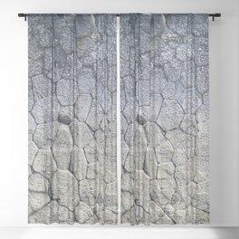 Nature's building blocks Sheer Curtain