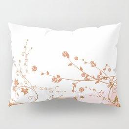 Apricot on white Pillow Sham