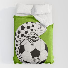 Soccer Chameleon Comforters
