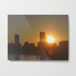 Sun over Boston Metal Print