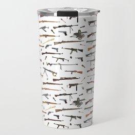 WW2 Weapons Pattern Travel Mug