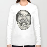 fear Long Sleeve T-shirts featuring Fear by Magdalena Almero