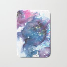 Blue Abstract Art Painting Bath Mat