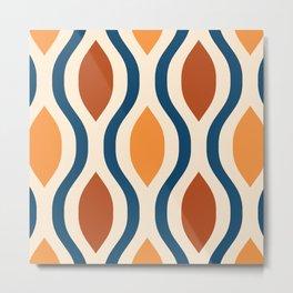 Pretty Ogee Pattern 395 Metal Print
