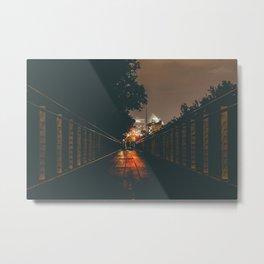 Renaissance Park bridge at night Metal Print