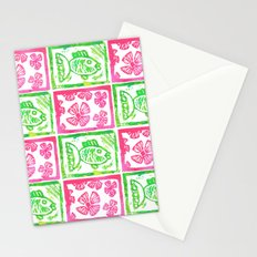 Tropical Fish Green Stationery Cards