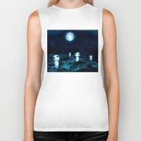 kodama Biker Tanks featuring Princess Mononoke (Kodama) by pkarnold + The Cult Print Shop