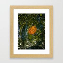 Kumquat Mosaic Framed Art Print