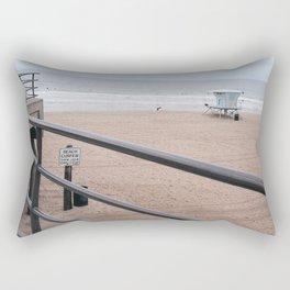 The Rails of Sand Rectangular Pillow