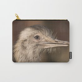Ostrich Close-Up Carry-All Pouch