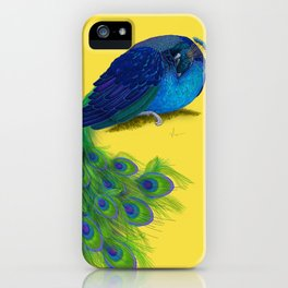 The Beauty That Sleeps - Vertical Peacock Painting iPhone Case