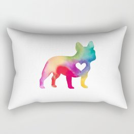 French Bulldog Love Rectangular Pillow