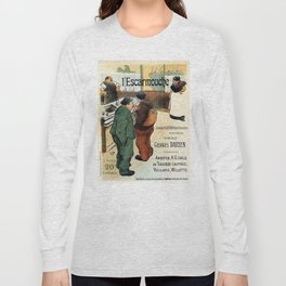 L'Escarmouche Vintage French bar scene Long Sleeve T-shirt