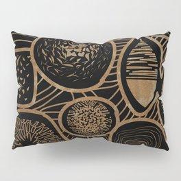 Vintage sepia pattern - linogravure style Pillow Sham