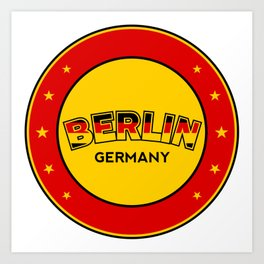 Berlin, circle, red Art Print