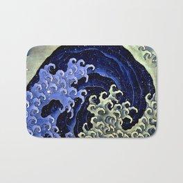 """Hokusai (1760–1849) """"Femenine wave"""" Bath Mat"""