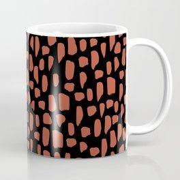spot doodle_rust on black Coffee Mug