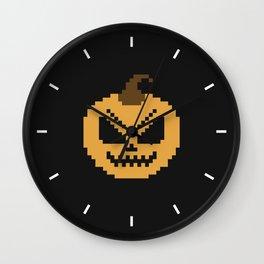 Pixel Pumpkins Wall Clock