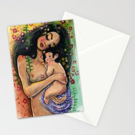 Klimt3: Mother and Child Stationery Cards