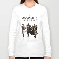 assassins creed Long Sleeve T-shirts featuring Assassins Creed Attack by bivisual
