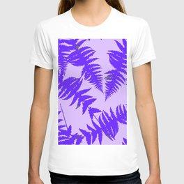 Decorative Grape Purple Ferns Glen on Lilac Color T-shirt