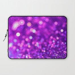 Violet Glitter Wave Laptop Sleeve