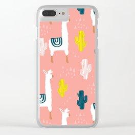 Llamas & Cacti Clear iPhone Case