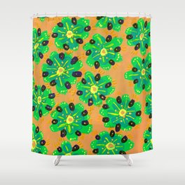 Green Desert Rose Shower Curtain