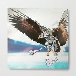 Birds In Armor 9 Metal Print