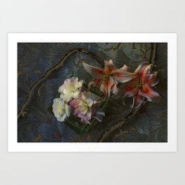 The Begonia Brocade Art Print