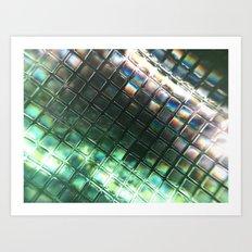 Rainbow pixels Art Print