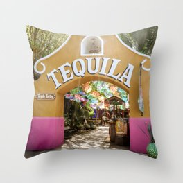 Tequila Tasting Throw Pillow