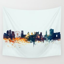 Nottingham England Skyline Wall Tapestry