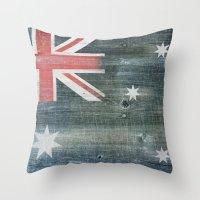 australia Throw Pillows featuring Australia by Arken25