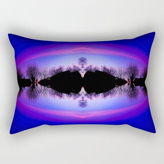 Treeflection IV Rectangular Pillow