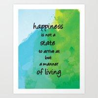 Happiness v2 Art Print