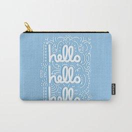 HELLO HELLO HELLO - light blue Carry-All Pouch