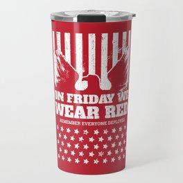 We Wear Red Friday Eagle Travel Mug