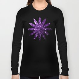 Beautiful Dark Purple glitter sparkles Long Sleeve T-shirt