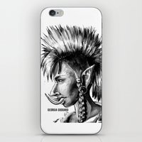 warcraft iPhone & iPod Skins featuring Punk Troll by Georgia Goddard
