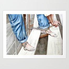 Bootleess Art Print