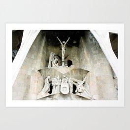 Gaudi's Calvary Art Print