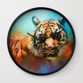 Colorful Expressions Tiger 2 Wall Clock